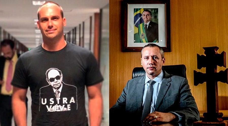 """eduardo bolsonaro roberto alvim - Eduardo Bolsonaro diz que """"apoiar o Nazismo é crime""""… para atacar a Folha"""