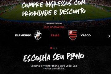 Site do Flamengo comete gafe e troca escudos ao anunciar clássico contra o Vasco