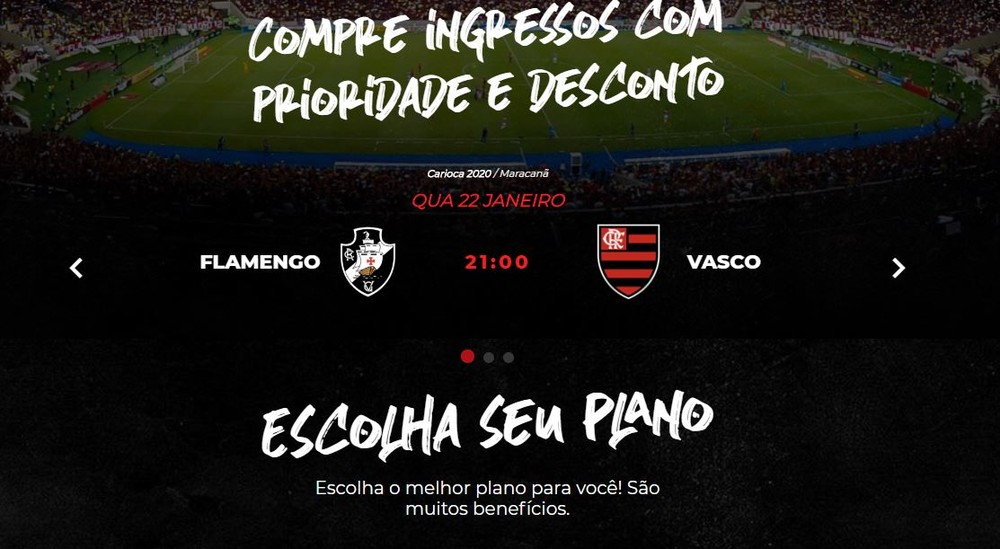 escudos - Site do Flamengo comete gafe e troca escudos ao anunciar clássico contra o Vasco