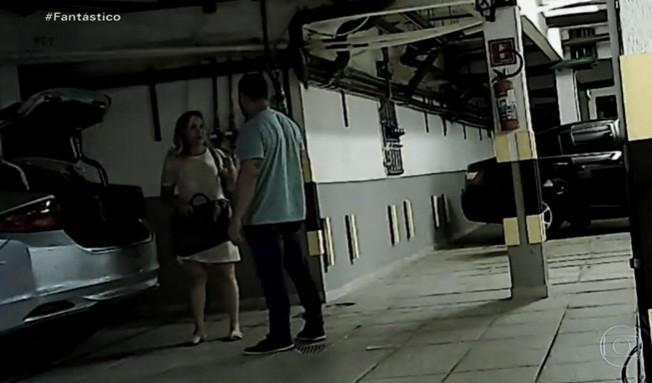 evani - PÉS DE BARRO: Fantástico mostra imagens inéditas de assessora de Wilson Santiago recebendo propina em supermercado -VEJA MATÉRIA COMPLETA