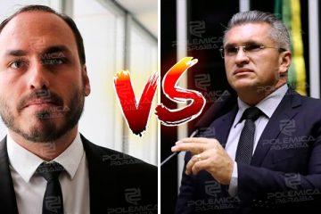 "julian lemos x carlos bolsonaro 360x240 - ""CADELA NO CIO"": Julian Lemos volta a discutir com Carlos Bolsonaro no Twitter - OUÇA"