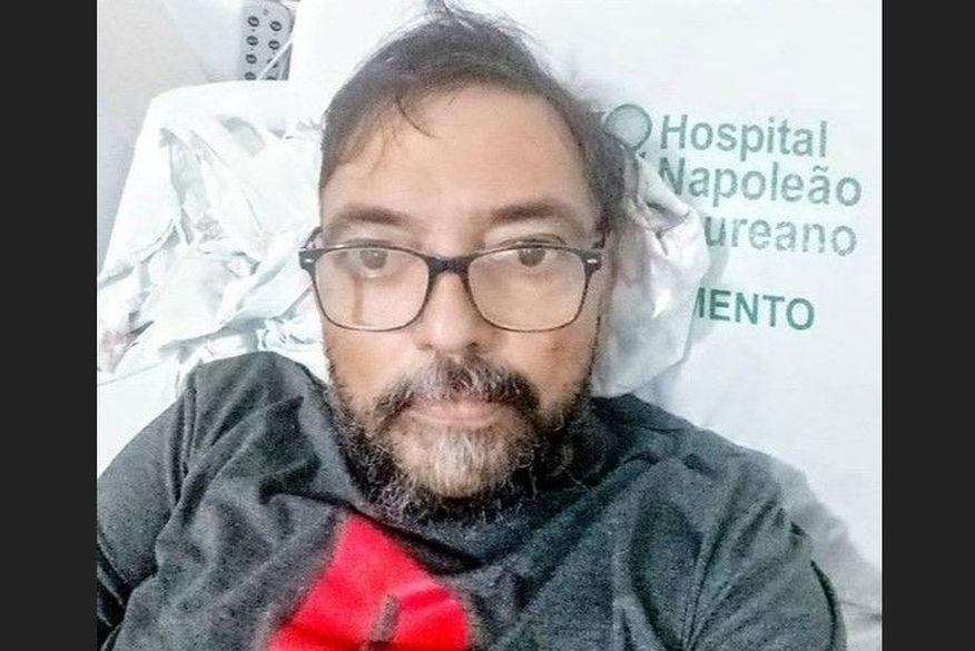"""marcello pianco humorista foto instagram   copia 2 - """"Começando a luta"""": Humorista paraibano posta foto em leito de hospital e revela estar com câncer"""