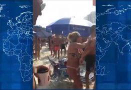 Discussão por causa de chuveirinho em praia acaba em pancadaria – VEJA VÍDEO