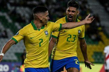 Brasil para no segundo tempo, mas vence o Peru na estreia do Pré-Olímpico