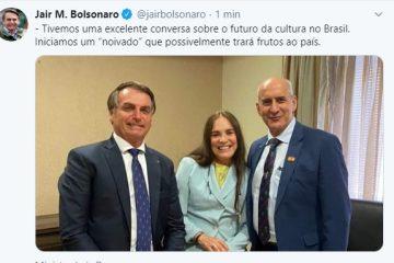 Bolsonaro anuncia 'noivado' com Regina Duarte