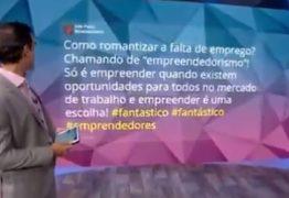Tadeu Schmidt gagueja ao vivo lendo crítica ao Fantástico: 'Romantizando a falta de emprego' – VEJA VÍDEO
