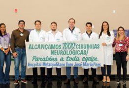 Hospital Metropolitano atinge a marca de mil cirurgias neurológicas