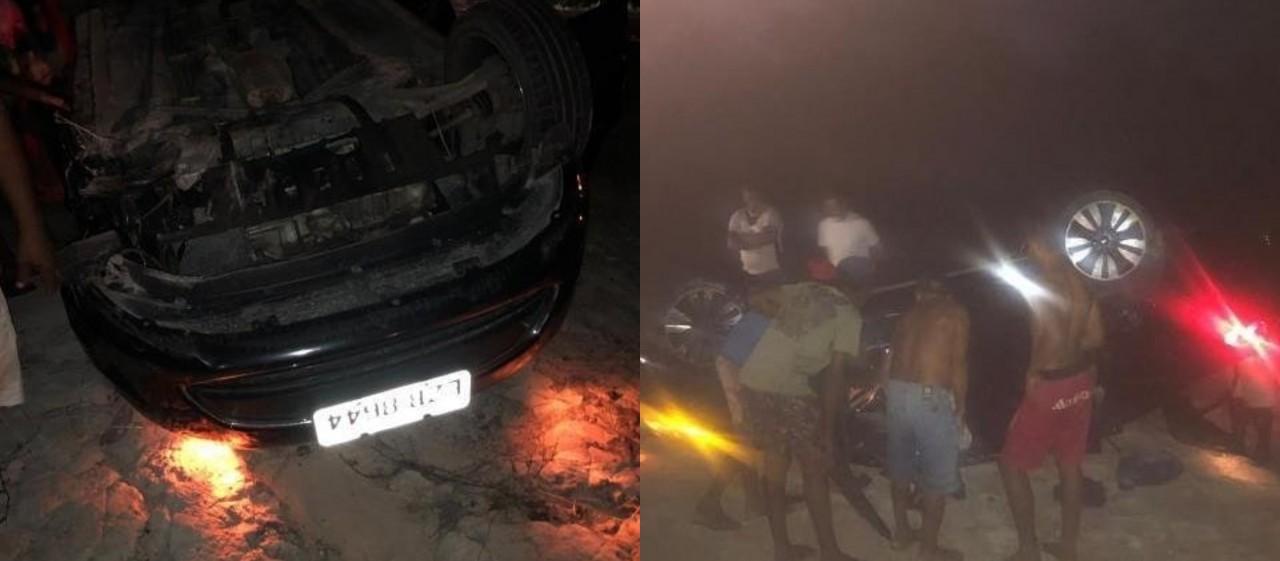 ITABAIANA - Vice-prefeito de Baía da Traição fica preso em ferragens durante acidente de carro - VEJA VÍDEO