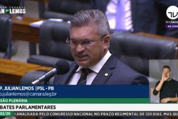 Julian Lemos faz discurso em solidariedade a paralisação da PMPB, em Brasília – VEJA VÍDEO