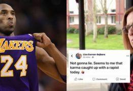 'UM ESTUPRADOR MORTO': Diretora que comemorou morte de Kobe Bryant é afastada do cargo