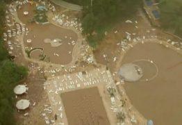 Chuva causa estrago no clube do São Paulo, no bairro do Morumbi