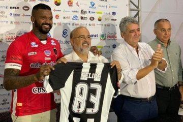 CAMISA 83: Botafogo-PB apresenta novo goleiro Felipe, ex-Flamengo
