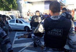 TIROS NO MERCADO CENTRAL: Grupo de suspeitos é rendido e termina com dois baleados após troca tiros com PMs