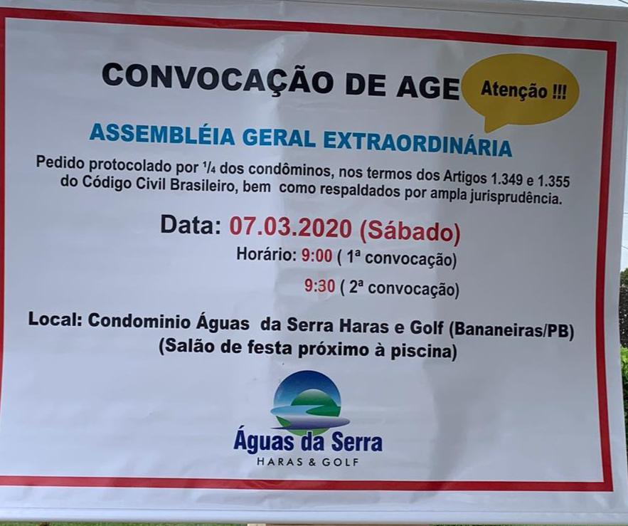 WhatsApp Image 2020 03 03 at 08.59.32 1 - GUERRA NO ÁGUAS DA SERRA: Síndico pede na justiça cancelamento de assembleia convocada pela oposição