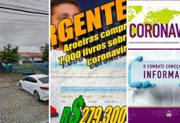 USANDO A CALAMIDADE PÚBLICA: Prefeitura de Aroeiras compra, sem licitação, 7 mil livros sobre coronavírus torrando quase R$ 300 mil