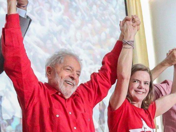 lula gleisi haddad e1625605096267 - 'NADA PREVISTO': em meio a especulações, Gleisi Hoffmann nega agenda de Lula na Paraíba