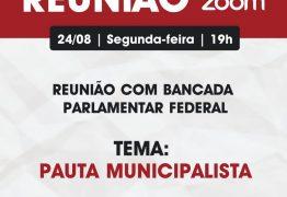 Prefeitos se reúnem com bancada federal paraibana para discutir pautas municipalistas