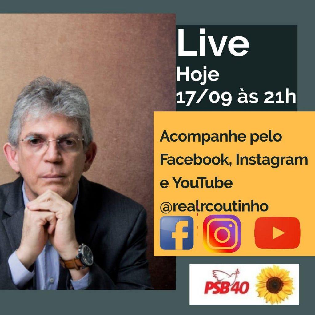 d282f6cb c271 4a41 a062 2e6491301149 1024x1024 - Prefeitável Ricardo Coutinho promove live para falar sobre propostas para a Capital paraibana