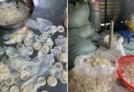 Polícia fecha armazém que reciclava e vendia camisinhas usadas