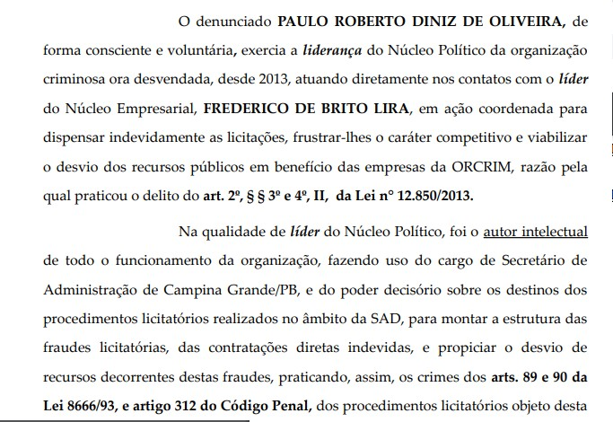 01 - FAMINTOS: MPF denuncia secretário de Educação e três ex-secretários em Campina Grande