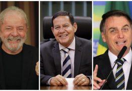 DOMINGUEIRA GALDINIANA: Lula, Mourão e Bolsonaro são os cabos eleitorais na sucessão de Jampa – Por Rui Galdino