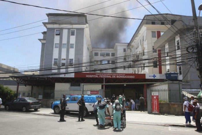 1 hfb incendio bonsucesso 20349261 - TRAGÉDIA ANUNCIADA: Defensoria Pública da União já havia alertado sobre risco de incêndio no Hospital Federal de Bonsucesso; uma pessoa morreu