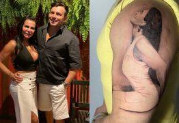 Novo marido de Gretchen tatua a cantora no braço