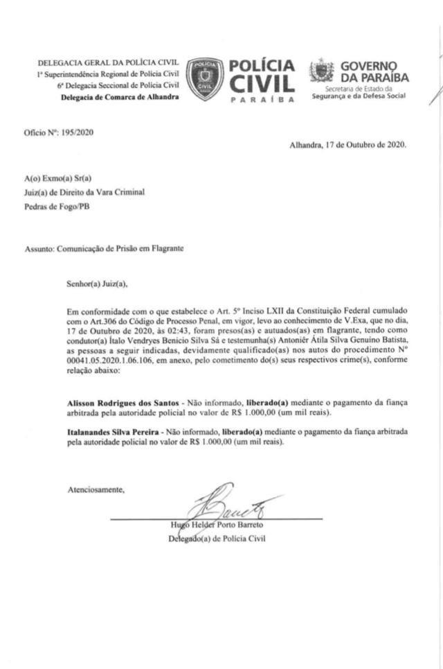 59c79a4b 93af 4439 97fe 577401cd9e85 - PEDRAS DE FOGO: candidatos a vereadores e militares de Manoel Júnior são presos por porte ilegal de arma, e intimidação de eleitores; confira