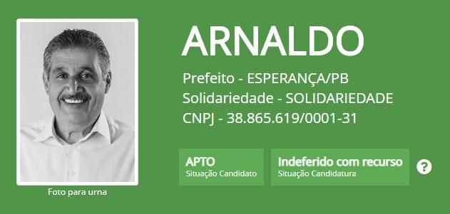 8855 1 - Justiça Eleitoral 'barra' registro de candidatura de ex-deputado em Esperança; veja o documento