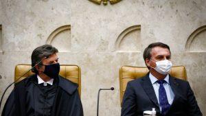 """89527520 pa brasilia bsb 10 09 2020 posse do ministro luiz fux como novo presidente de stf a pos 300x169 - No retorno do Judiciário, Fux manda recado a Bolsonaro: """"Independência entre os poderes não implica impunidade"""""""