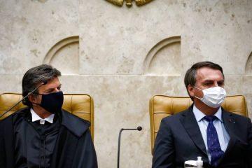 """89527520 pa brasilia bsb 10 09 2020 posse do ministro luiz fux como novo presidente de stf a pos 360x240 - No retorno do Judiciário, Fux manda recado a Bolsonaro: """"Independência entre os poderes não implica impunidade"""""""