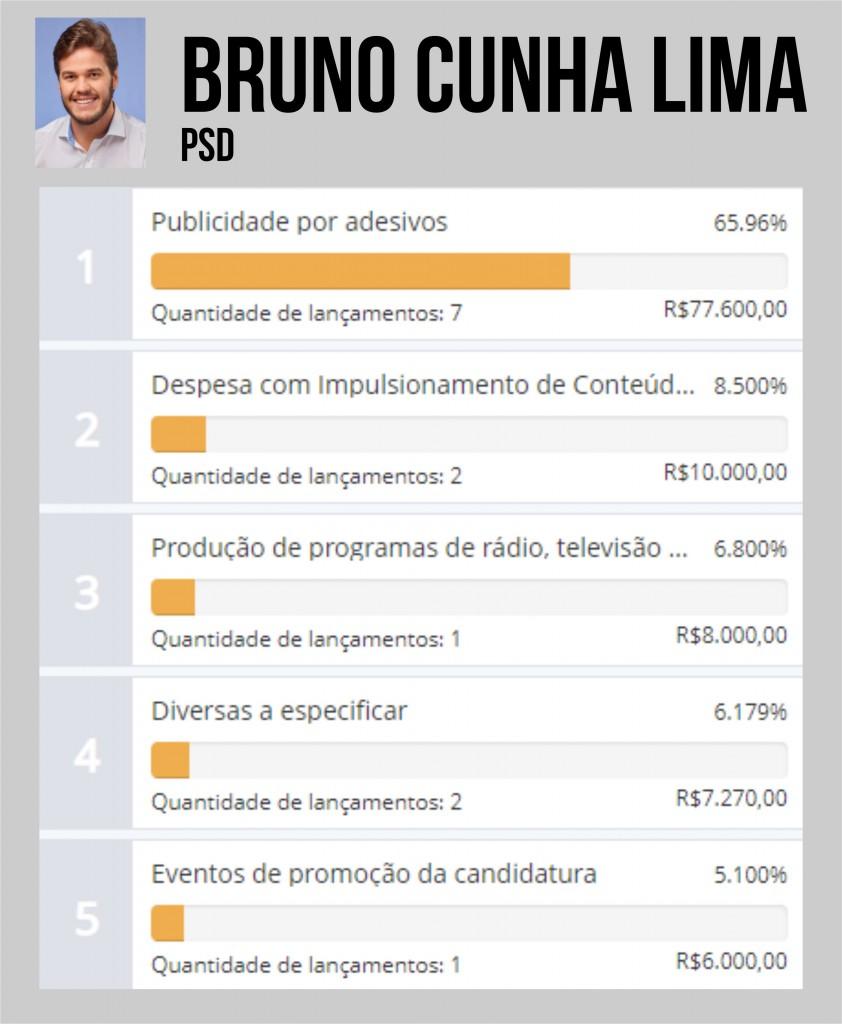 BRUNO CUNHA LIMA - QUASE R$ 1 MILHÃO: Ana Cláudia é a candidata que mais gastou durante a campanha em Campina Grande - VEJA OS VALORES
