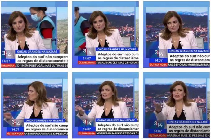 Capturar3 6 - Apresentadora reclama com faxineira que entrou no estúdio durante programa ao vivo