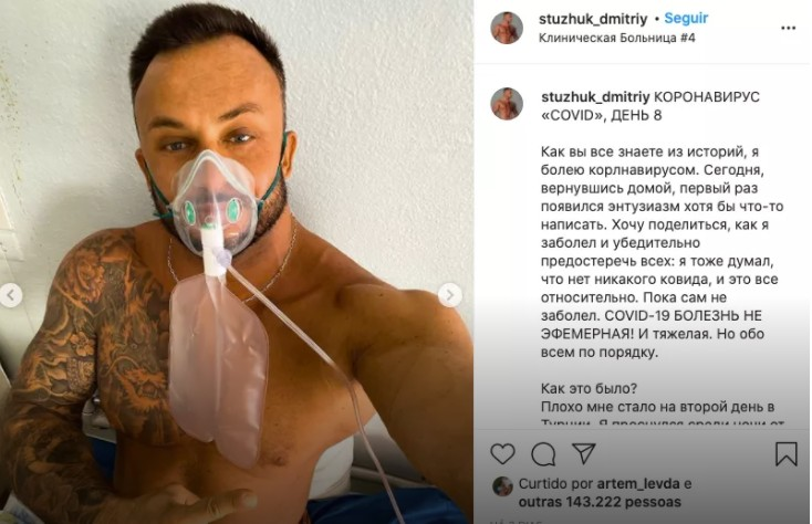 Capturarr 2 - Influenciador que negava a Covid-19 morre aos 33 anos após contrair o vírus