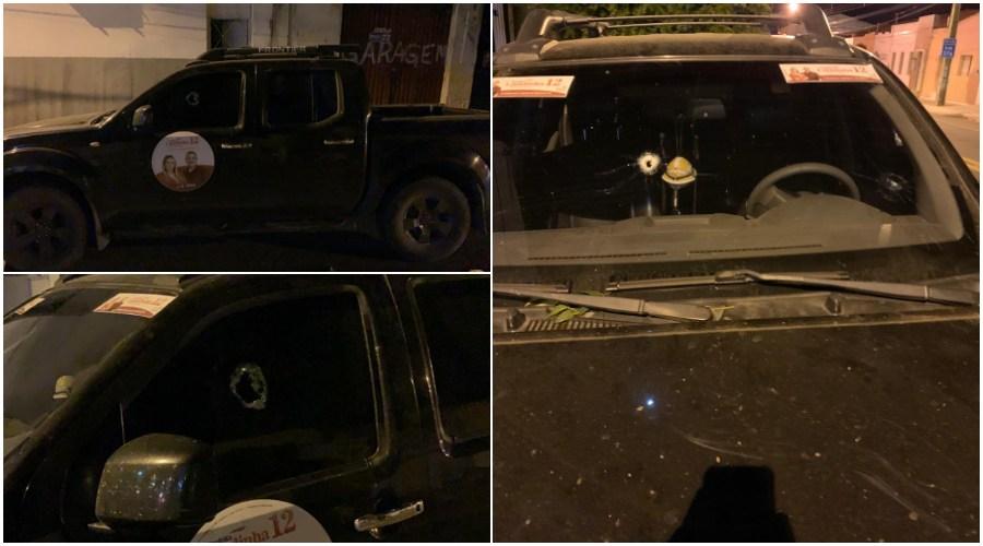 Carro 2 - ATENTADO: Carro de candidata à Prefeitura de Condado e alvejado a tiros
