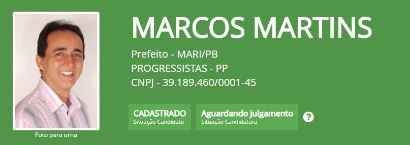 Mari - MARI: TSE indefere candidatura do PP à prefeitura