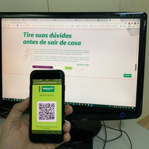 Receita digital Unimed JP - Unimed João Pessoa lança plataforma de prescrição médica digital para oferecer mais agilidade nos atendimentos