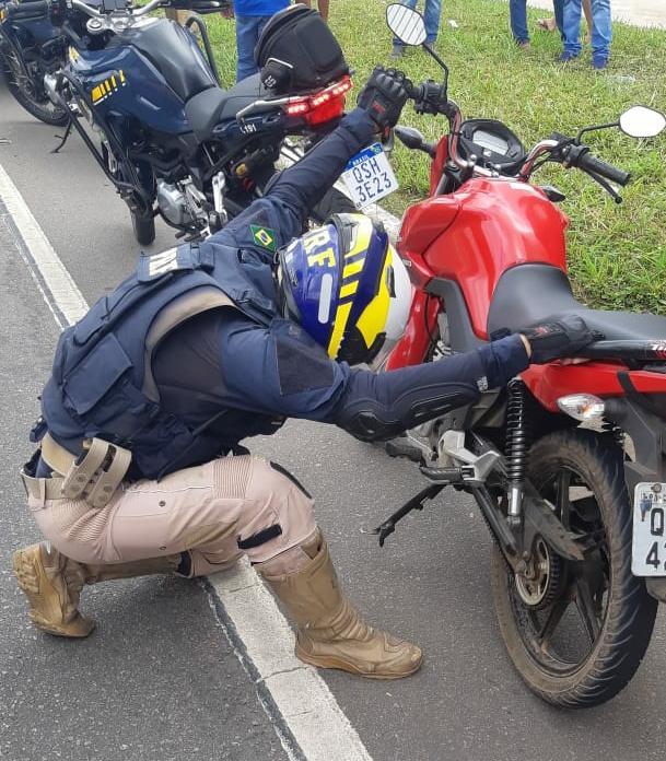 WhatsApp Image 2020 10 15 at 14.19.43 - PRF na Paraíba recupera motocicleta roubada na região metropolitana da capital