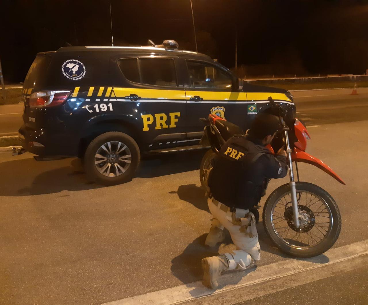 WhatsApp Image 2020 10 16 at 12.39.55 - PRF na Paraíba recupera motocicleta roubada e adulterada em Mamanguape