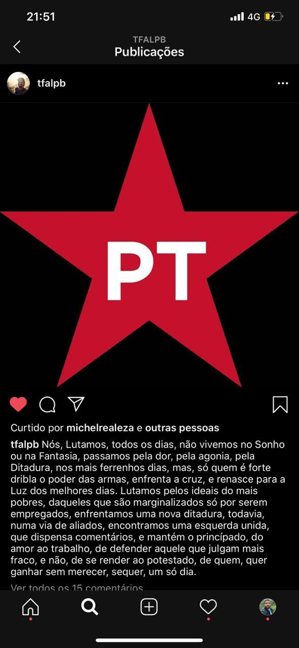 WhatsApp Image 2020 10 18 at 08.58.54 - Após discussão, militante do PT é assassinado com uma facada no peito na Paraíba