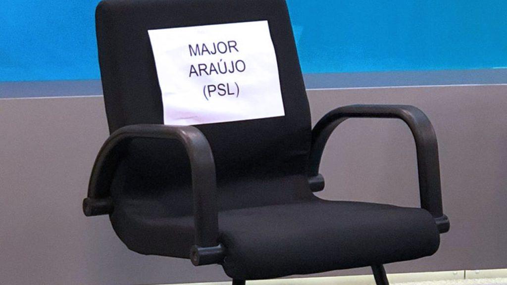 """WhatsApp Image 2020 10 21 at 223823 1024x576 - """"17 TÁ FORA!"""": Major Araújo abandona debate dos candidatos a prefeito de Goiânia - VEJA VÍDEO"""