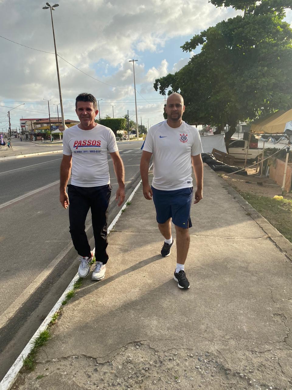 caminhada diego - Diego do Kipreço, candidato a prefeito de Bayeux anuncia projeto de mobilidade urbana para estruturar ruas e avenidas