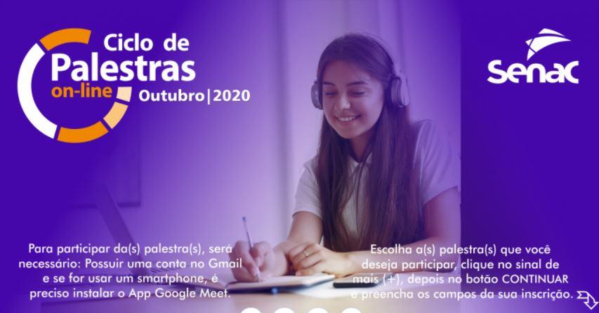 ciclos - Senac realiza palestras online gratuitas sobre empreendedorismo e relações de consumo