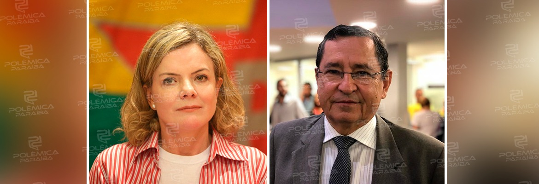 gleisi e anisio - Interventor do PT de João Pessoa pede exoneração do Governo do Estado e diz que única saída para o campo progressista é apoiar Ricardo