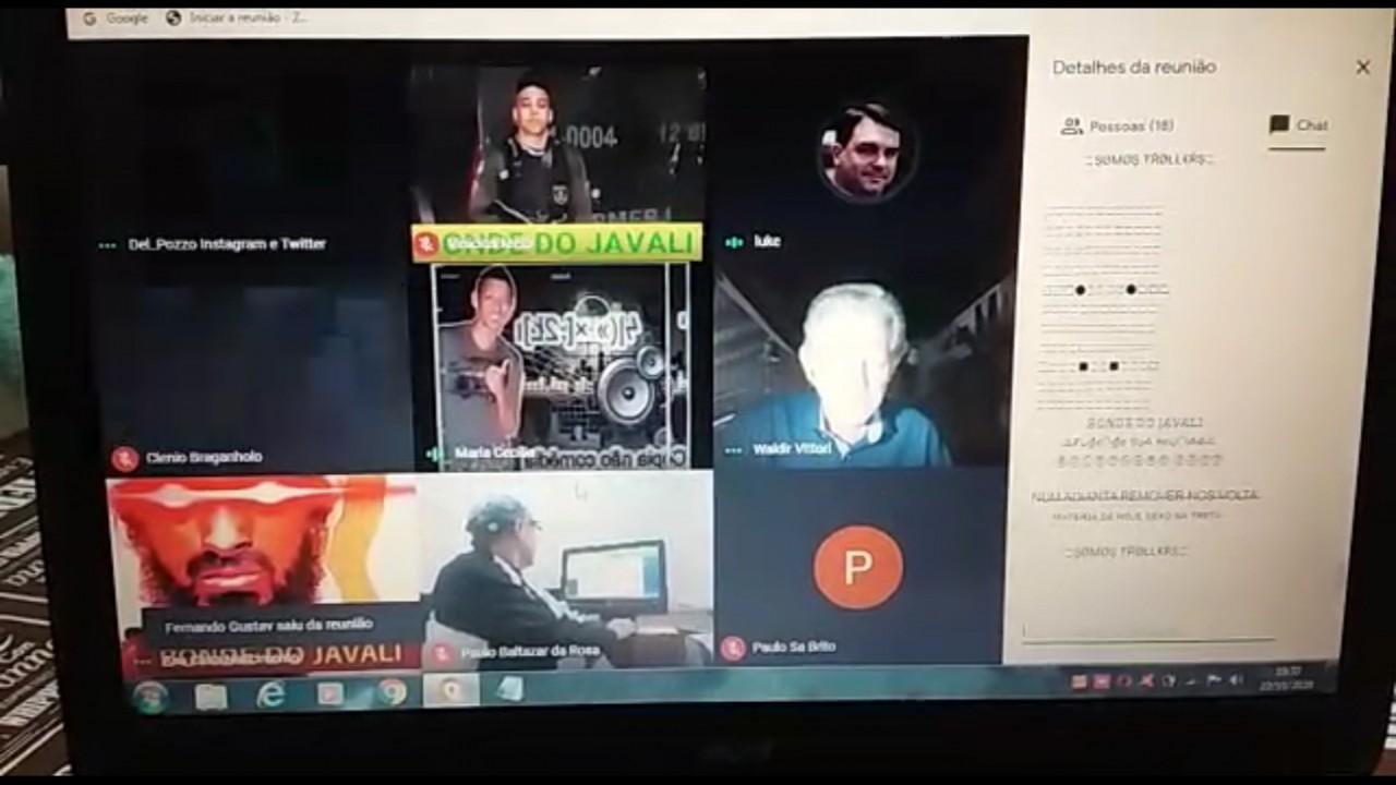 invasao live - Plenária virtual de candidato a vereador do PT é invadida por nazistas