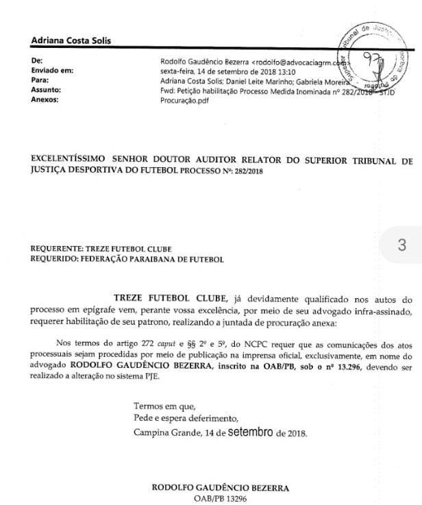 rodolfo setembro - Investigado na 'Famintos', secretário em Campina Grande teria participado em suposta fraude em eleição na FPF – VEJA DOCUMENTOS