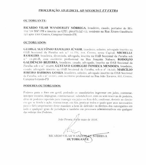 termo 3 - 'PATROCÍNIO SIMULTÂNEO': alvo da 'Famintos', secretário de Campina Grande foi citado em reportagem sobre atuação de Michelle Ramalho