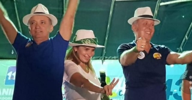 trio 1 - Aguinaldo e Daniella Ribeiro abraçam candidatura de Galego e Juréia em São Bento e anunciam participação ativa na campanha