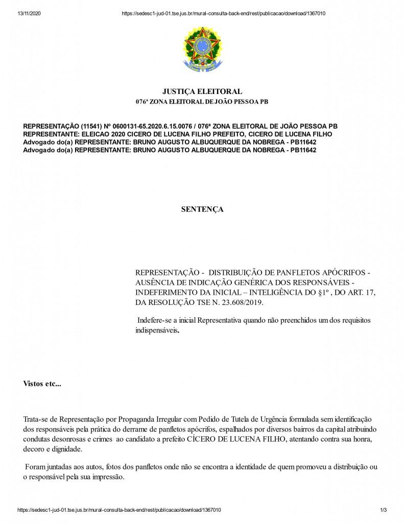 0001 - IMAGENS DA SEMOB: Justiça determina que PRF investigue autoria de panfletos contra Cícero Lucena