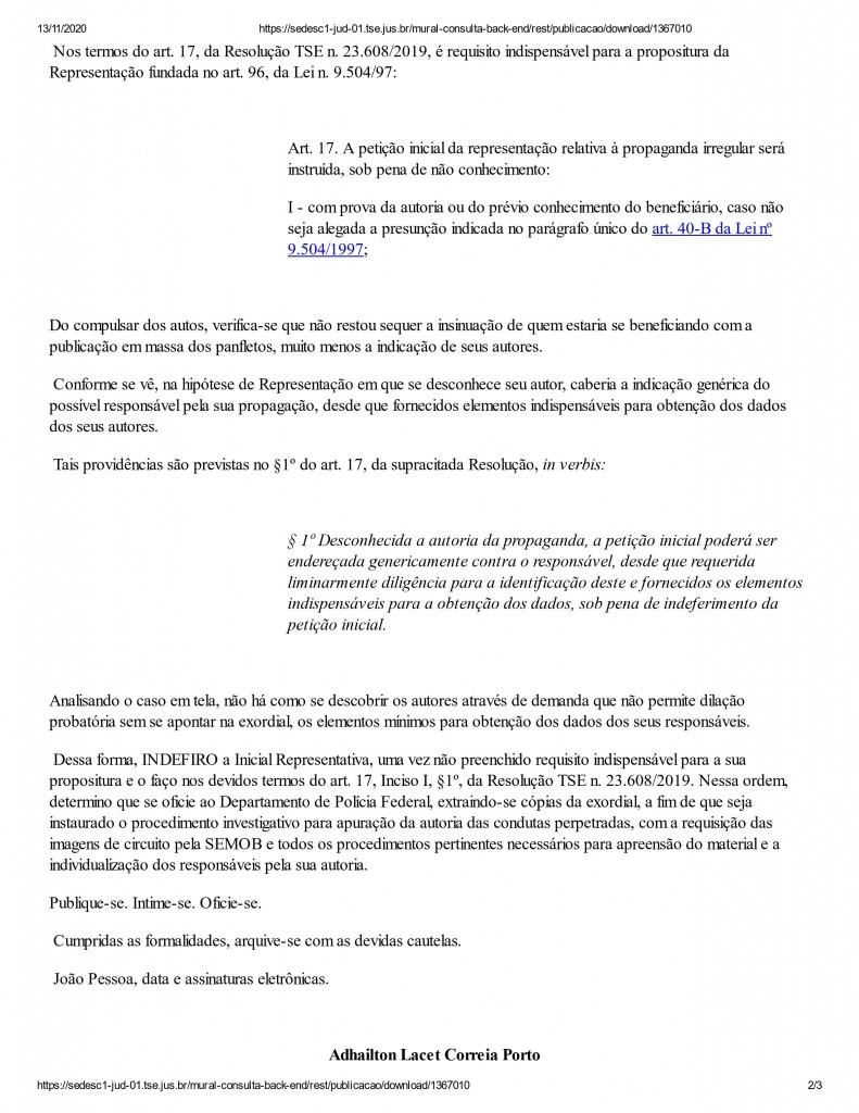 0002 - IMAGENS DA SEMOB: Justiça determina que PRF investigue autoria de panfletos contra Cícero Lucena